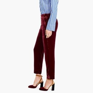 NWT J. Crew Red Velvet Pull-on Easy Pants